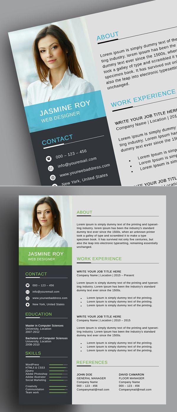 Freebie Clean CvResume Template  Misc    Cv Resume