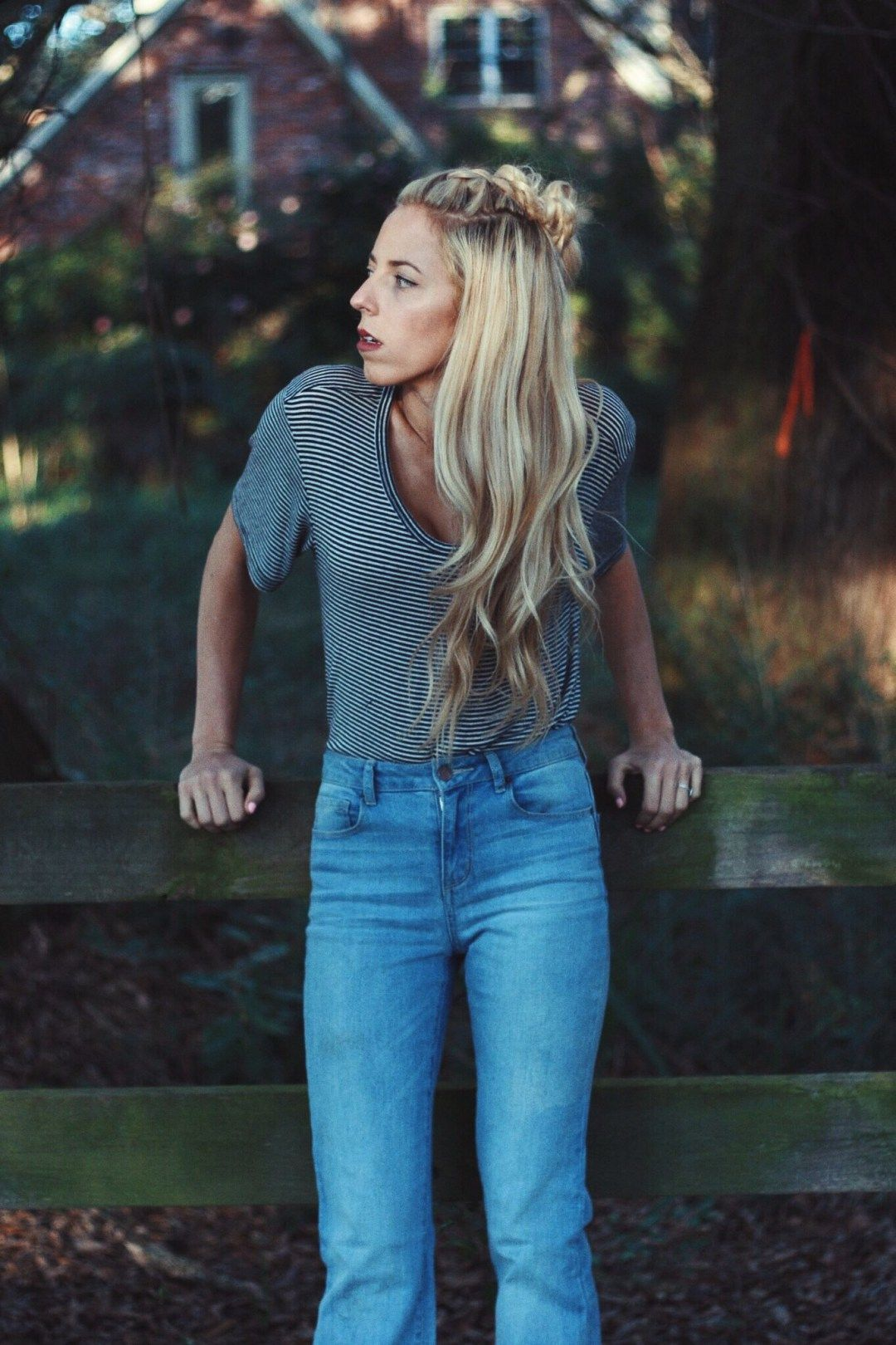 On the Fence - KC Double Take   Braided top knots, French braid, Dutch  braid top knot