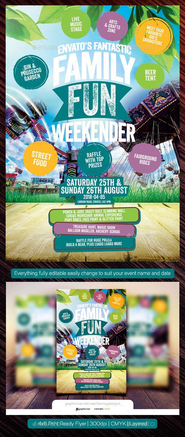 Family Fun Weekender Flyer Template Photoshop Psd Fair Flyer