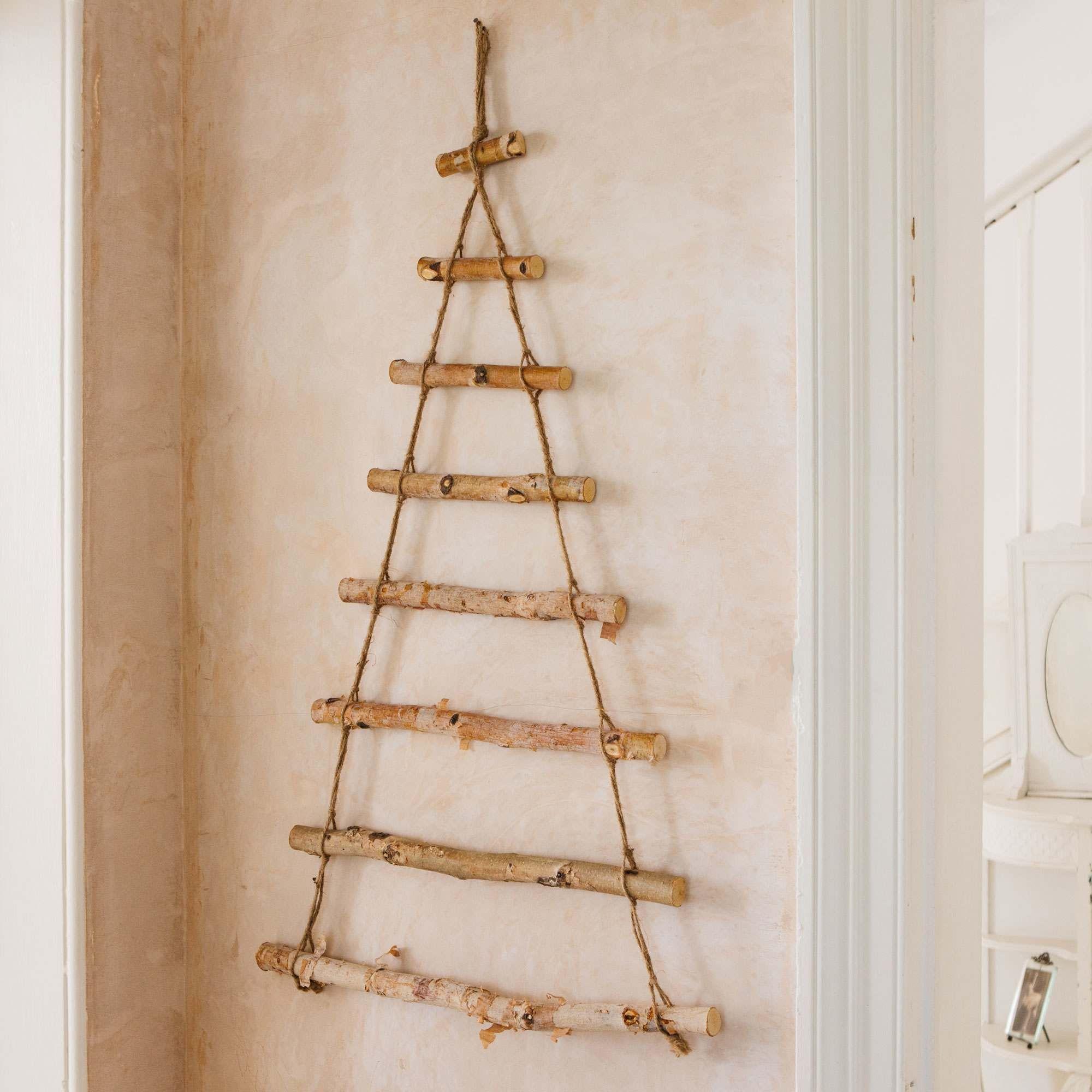 Wooden Ladder Tree Wooden Ladder Christmas Decor Diy Wooden