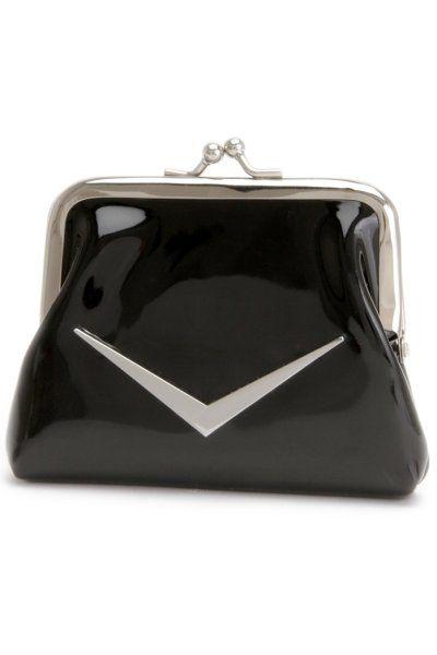 Shiny Black Coin Purse by Lux de Ville | Bags | Shiny Black