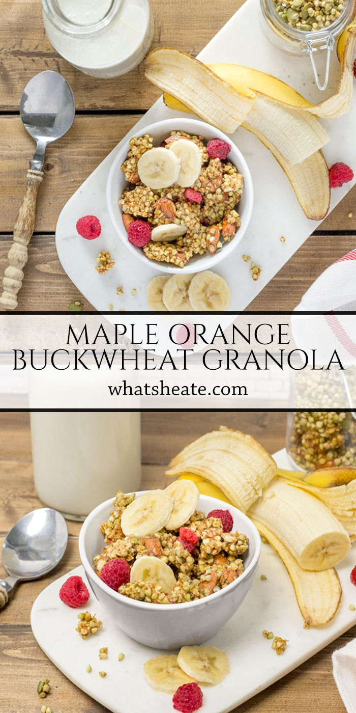 Maple Orange Buckwheat Granola Made In The Food Dehydrator