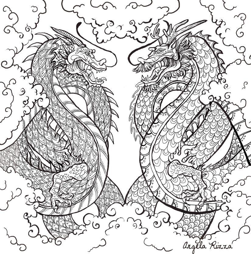 Fantasy Coloring Book for Michael O\'Mara Books.   Mandala ...