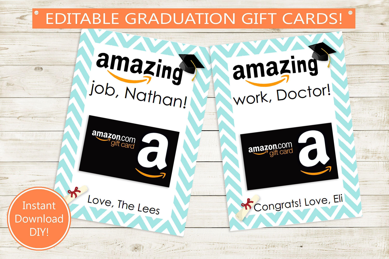 Editable And Printable Graduation Amazon Gift Card Holder Etsy Gift Card Holder Printable Gift Cards Amazon Gift Cards
