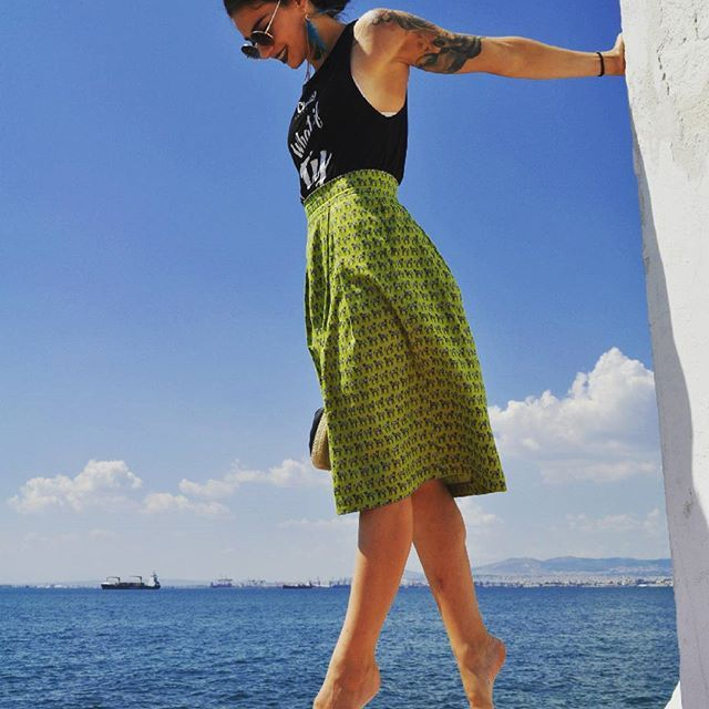 Take a break! With your Zebras n all!  Ft.The green zebras midi skirt   #zebra print #midi skirt