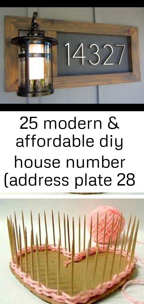 25 modern & affordable diy house number (address plate 28 #crochetcamera