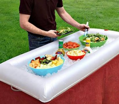 Inflatable And Portable Salad Bar Buffet Table Top Cooling Station