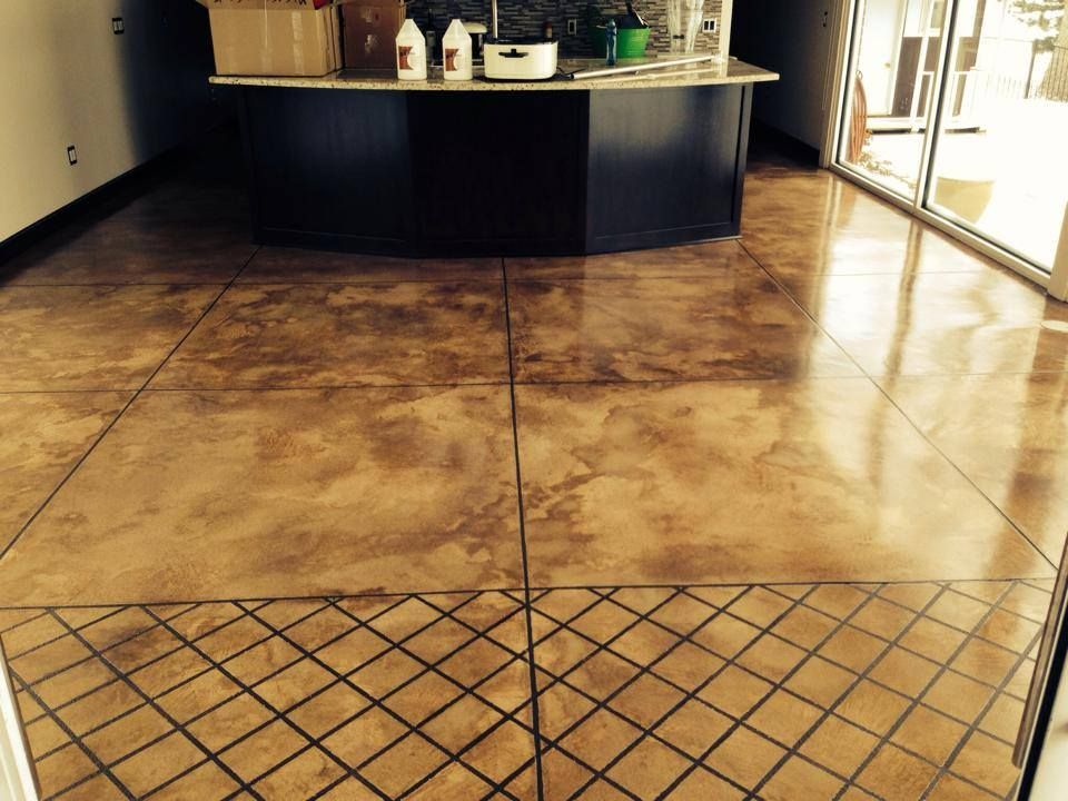 Resurfaced Concrete Overlay With Buff Integral Color