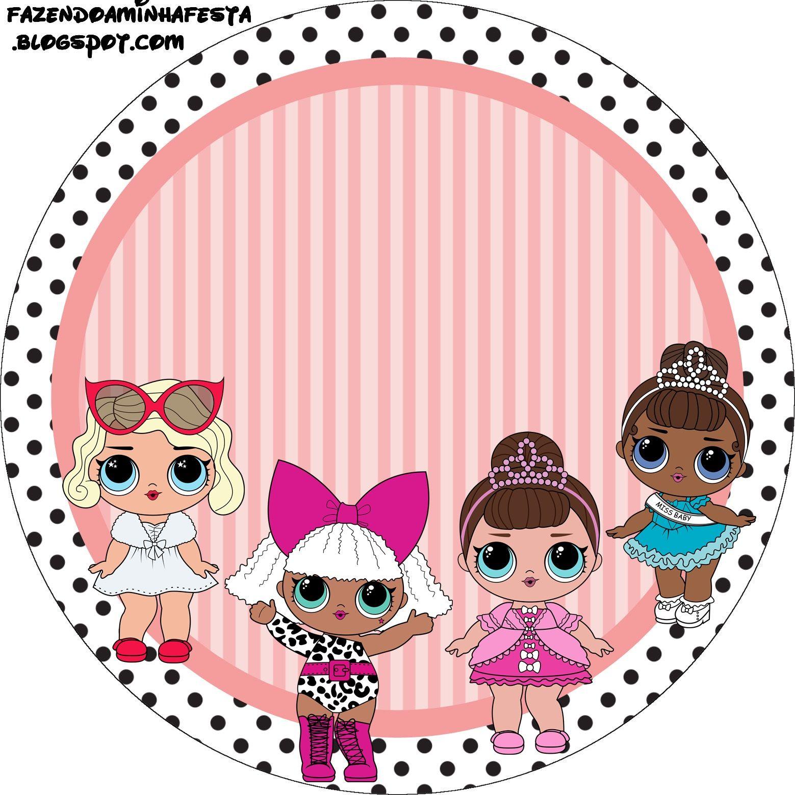 Картинка с днем рождения куклы лол, надписью