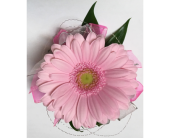 Perfectly Pink Miniature Gerbera Wrist Corsage