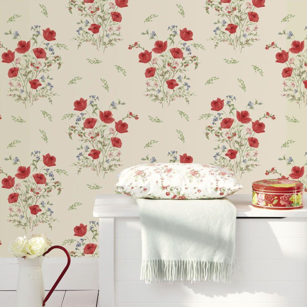 Wall stickers wilko - Holden K2 Summer Bouquet Beige Wallpaper 10318 At Wilko Com