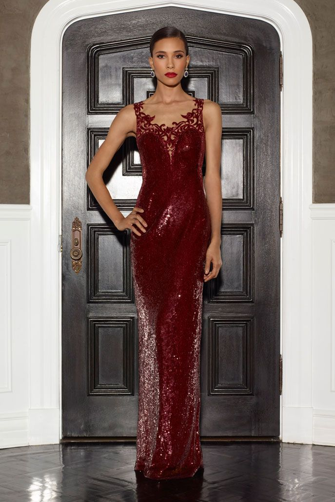 Ruby fully beaded gown w/vine embroidery - FIRE AND ICE - LORENA ...