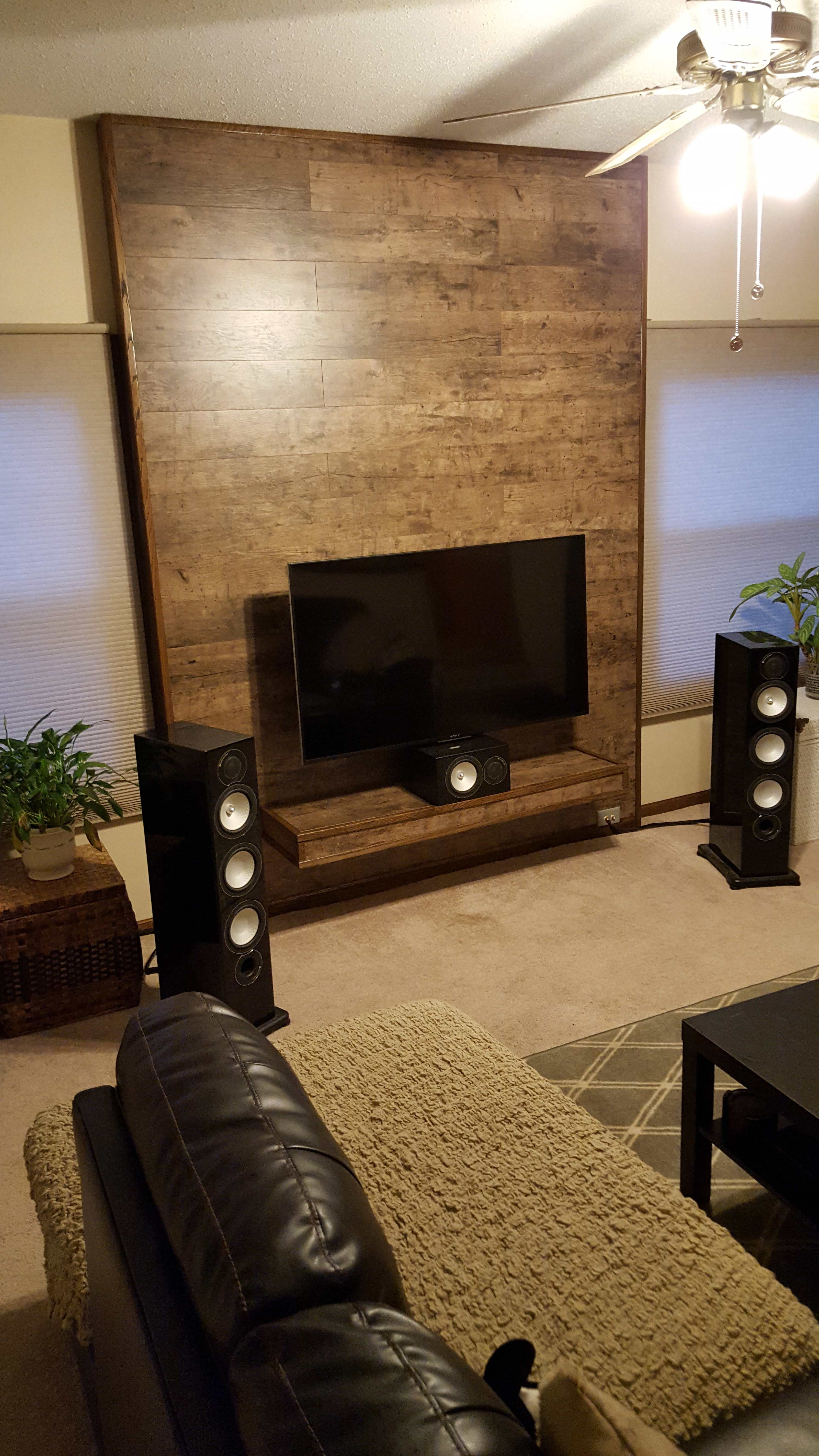 i built a false wall to conceal my home theater wires album on imgur [ 2988 x 5312 Pixel ]