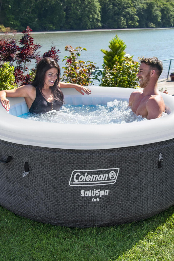 Coleman Cali Airjet Inflatable Hot Tub Hot Tub Backyard Inflatable Hot Tubs Hot Tub