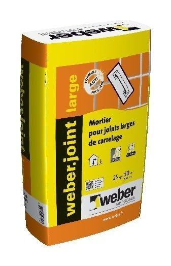 Mortier pour joints de carrelage WEBER.JOINT LARGE - Le Sac de 25 Kg - GRIS PERLE - WEBER SAINT ...