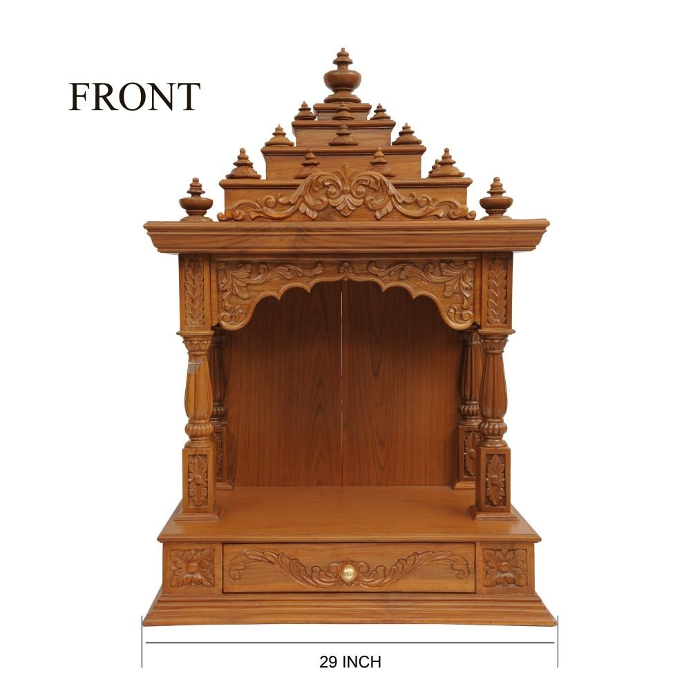 Indian Teak Wood Mandir Engraved Beautifully For Sale Online   200812_0925    Teak Wood Temple,