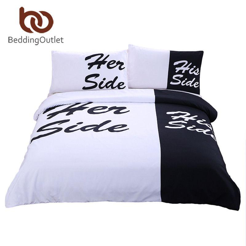 Bettwäsche Side His Side beddingoutlet black bedding set his side home textiles