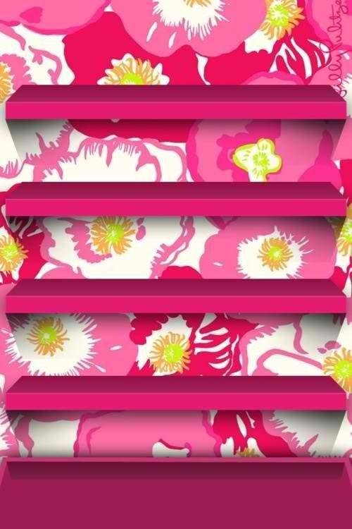 Lilly Pulitzer shelf iPhone wallpaper