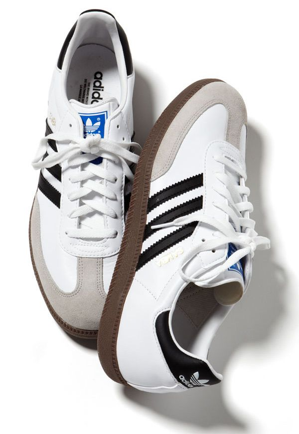"aab303a4b773 ""One of the best and most stylish values out there. This white pair is the  yin to the yang of the classic black Sambas we ve featured in the magazine  for ..."
