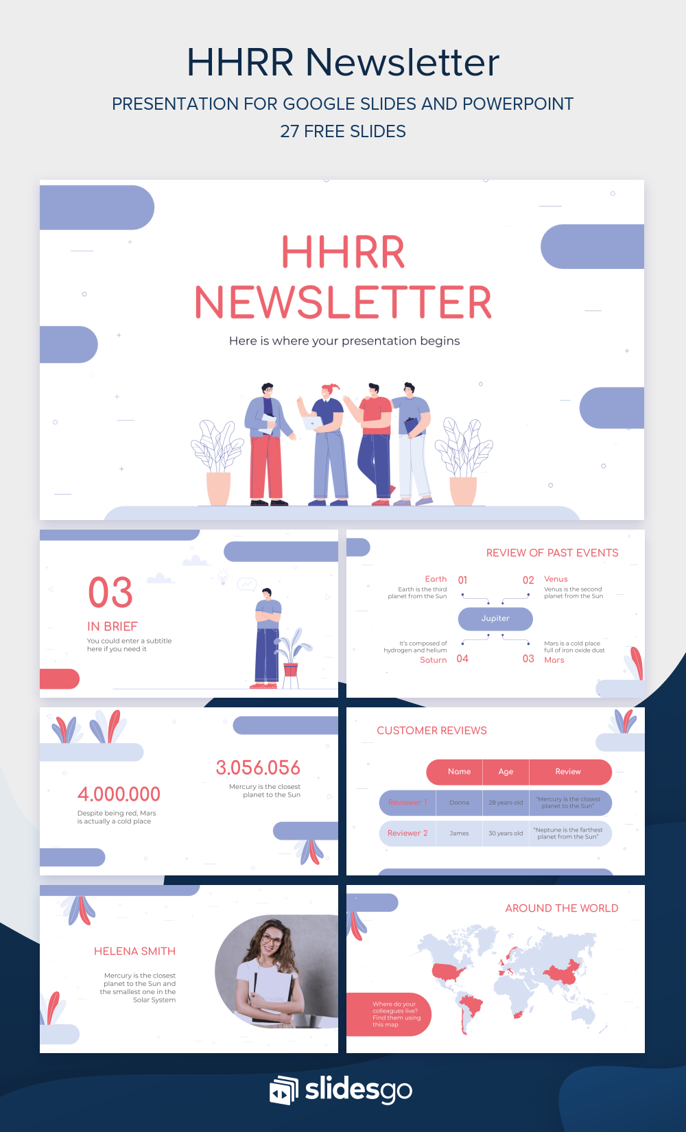 Edit And Share This Hr Newsletter To Communicate With The Rest Of The Teams Of Your Comp Powerpoint Presentation Design Powerpoint Background Design Powerpoint