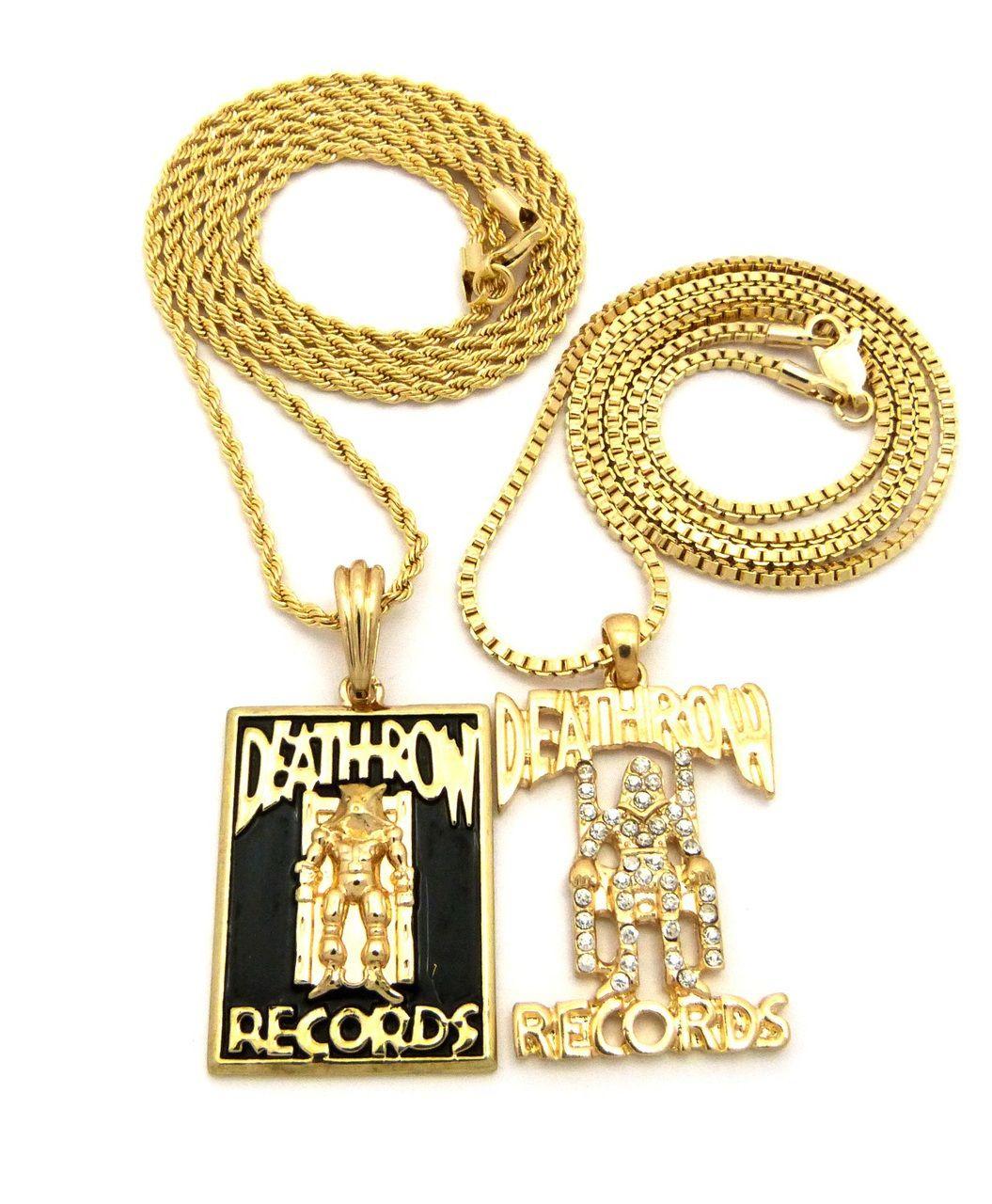 Death row inspired diamond cz hip hop pendant w rope chain death row inspired diamond cz hip hop pendant w rope chain bling jewelz aloadofball Choice Image