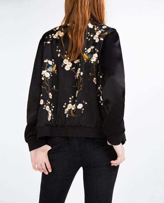 7f7b84356a Image 4 of FLORAL EMBROIDERED BOMBER JACKET from Zara | Want in 2019 ...