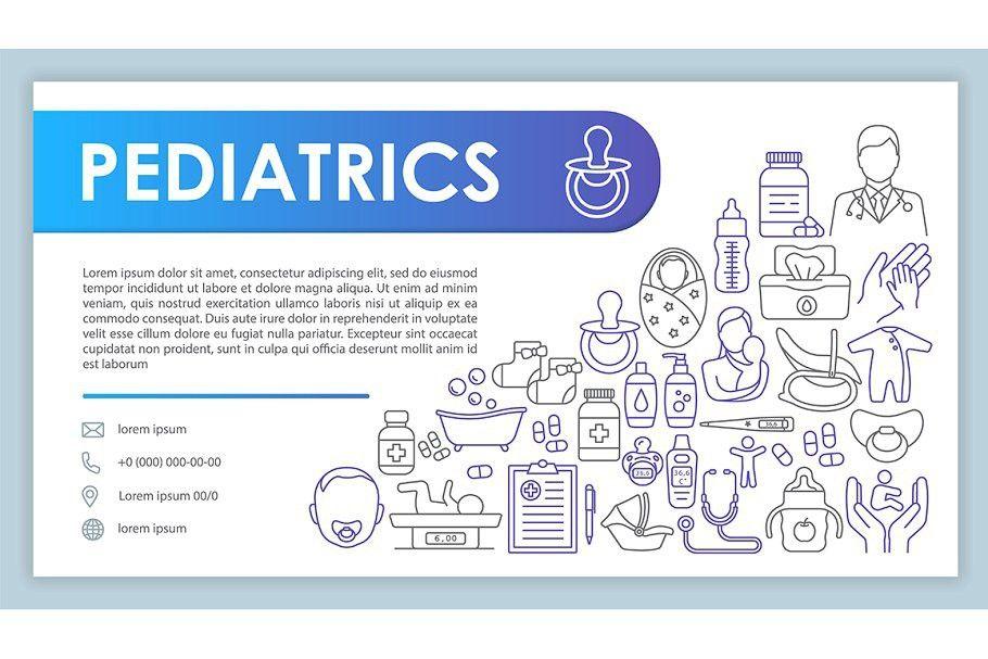 Pediatrics Web Banner Business Card Business Cards Creative Templates Business Cards Vector Templates Web Banner