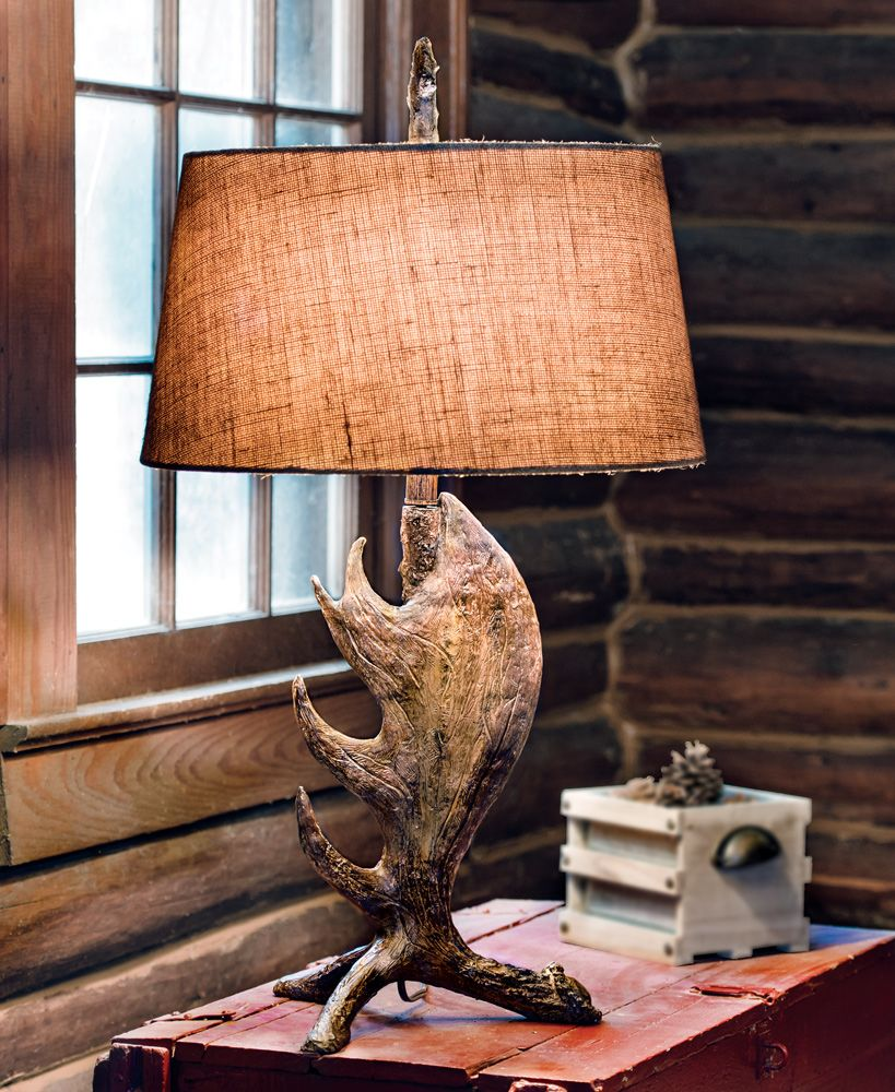 Moose shed antler table lamp mountain home pinterest antlers moose shed antler table lamp arubaitofo Choice Image