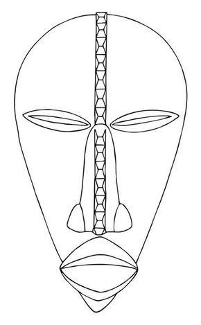 Blog do Professor Eduardo: Máscara Africanas para Pintar   Africa ...