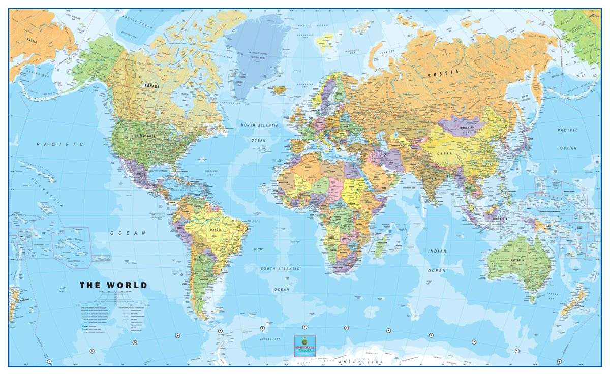 World classic wall map huge mural poster 6096 pinterest wall 60x96 world classic wall map huge mural gumiabroncs Gallery
