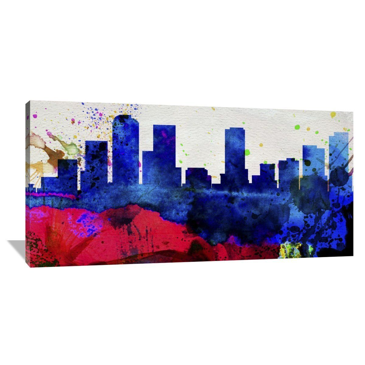 Naxart Studio 'Denver City Skyline' Stretched Canvas Wall Art