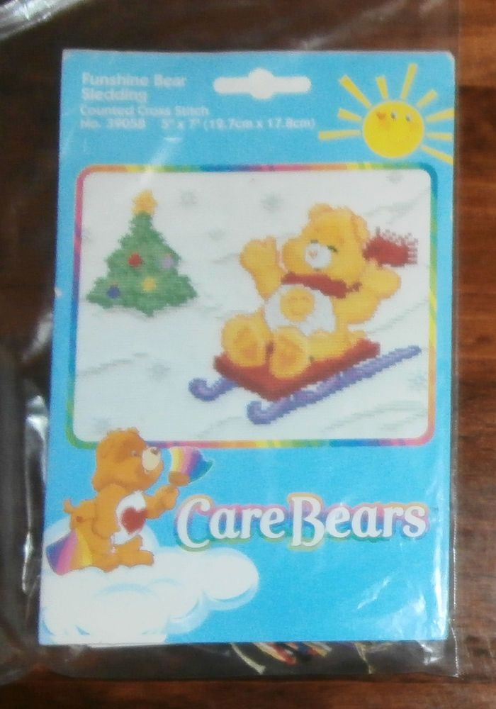 "Funshine Bear Sledding, Care Bears, 5"" x 7"", Christmas #CareBears"