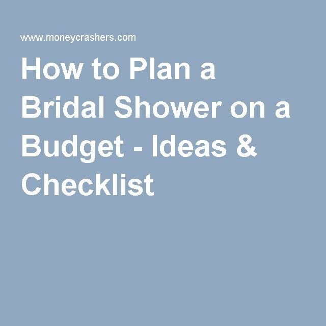 How to Plan a Bridal Shower on a Budget - Ideas \ Checklist - bridal shower checklist