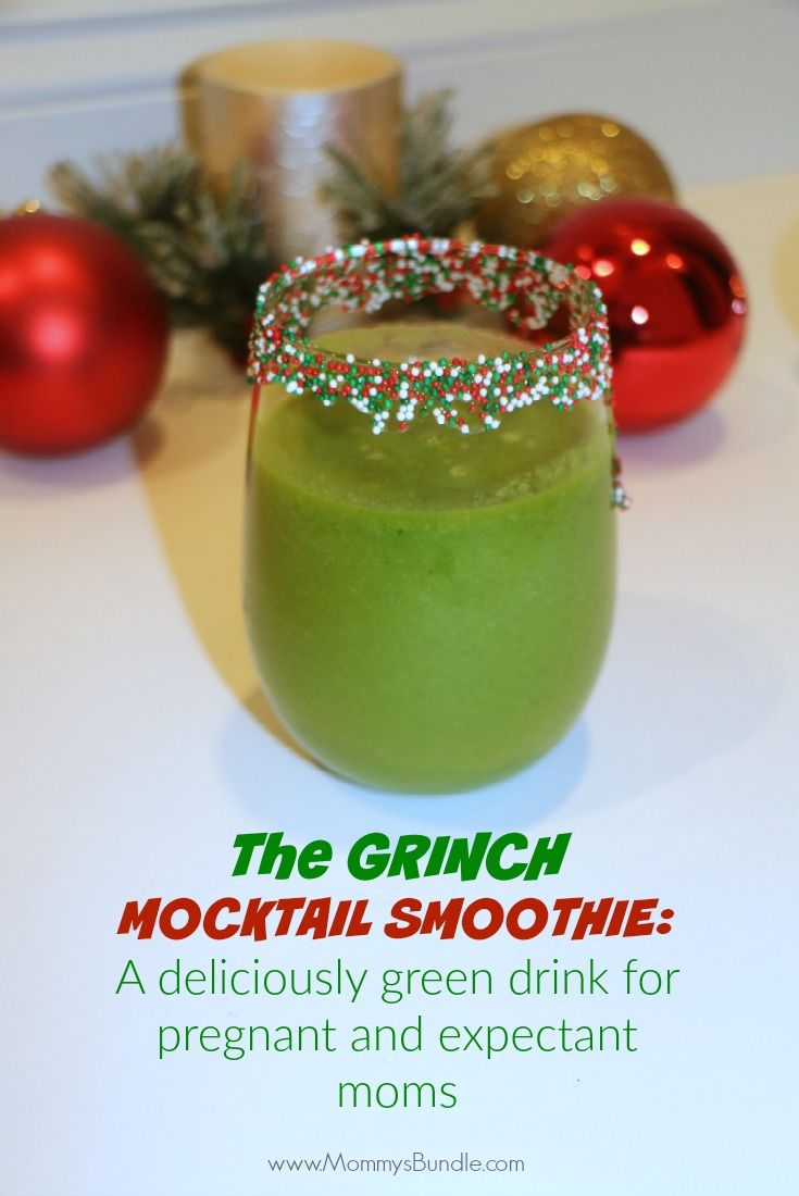 delicious holiday mocktail  smoothie drink for pregnant