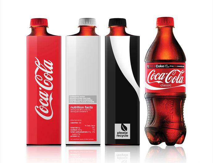 Minimal Coca Cola Bottle design. Much sleeker than the regular bottle.
