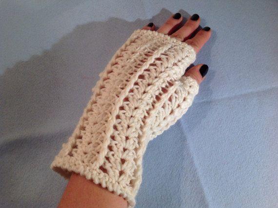 Guantini senza dita | Crocheting | Pinterest | Guantes sin dedos ...