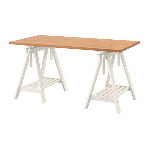 gerton finnvard table ikea solid wood is a durable natural material predrilled holes for legs for easy assembly - Drafting Table Ikea