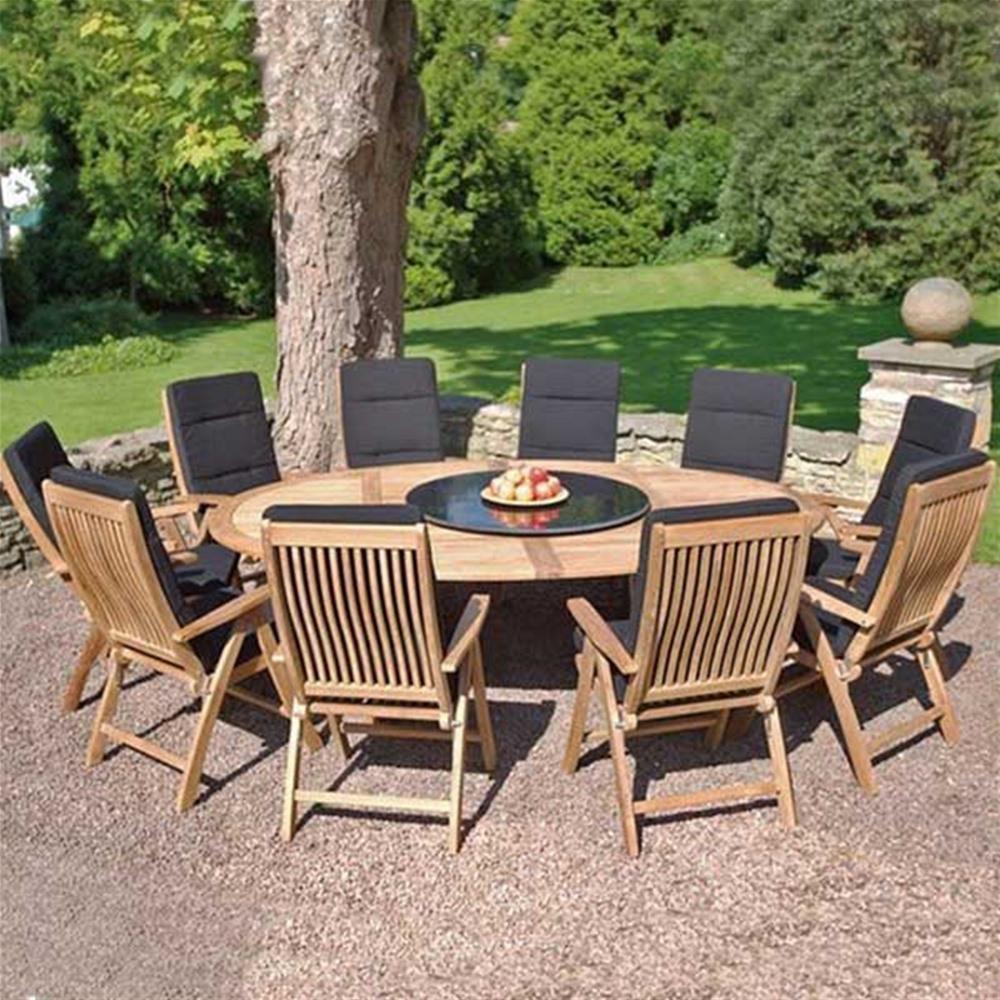 Bramblecrest Oxford 10 Seat Recliner Teak Garden Furniture Set ...
