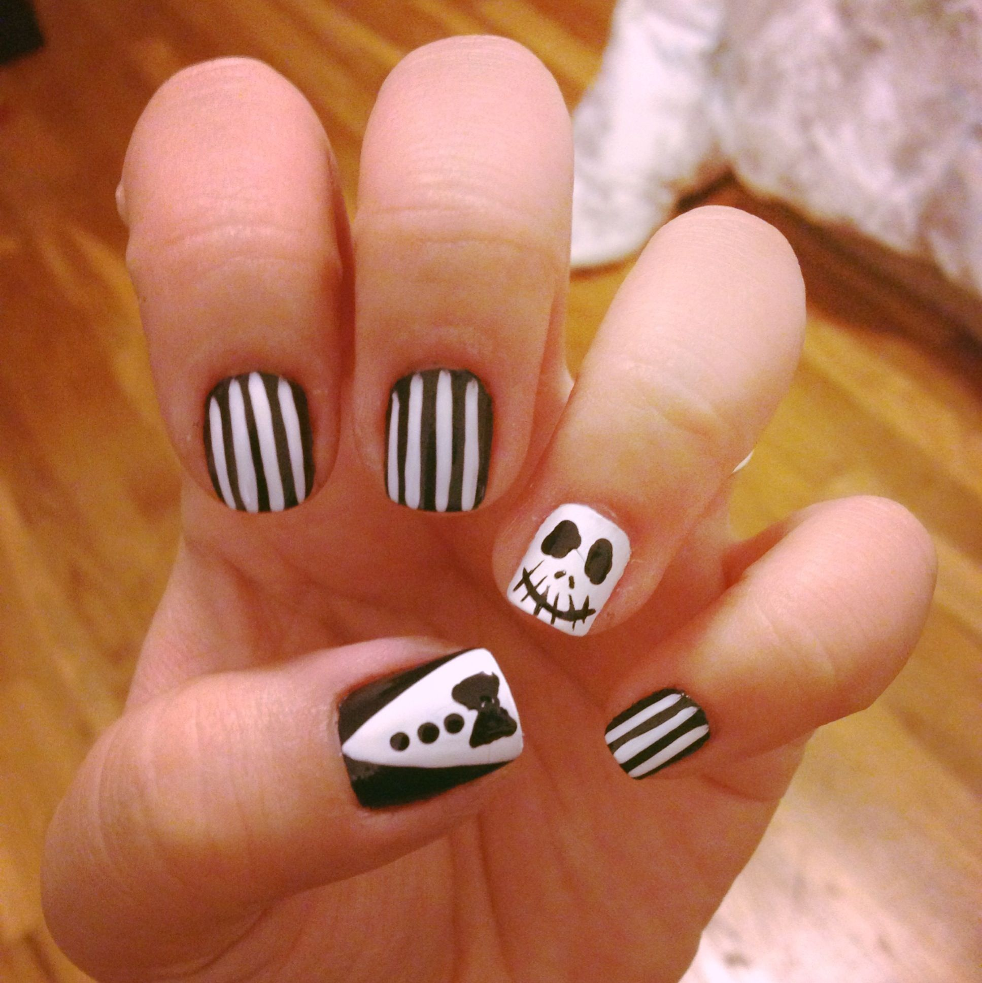 About baby boomer nail art tutorial by nded on pinterest nail art - Jack Skellington Nail Art Simplychitah