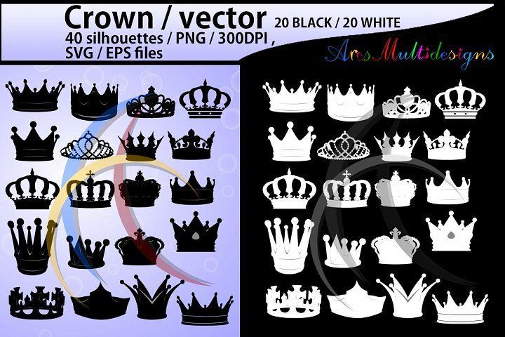 Crown Svg Crown Crown Clipart Crown Silhouette Vector 23317 Illustrations Design Bundles Silhouette Vector Crown Silhouette Clip Art