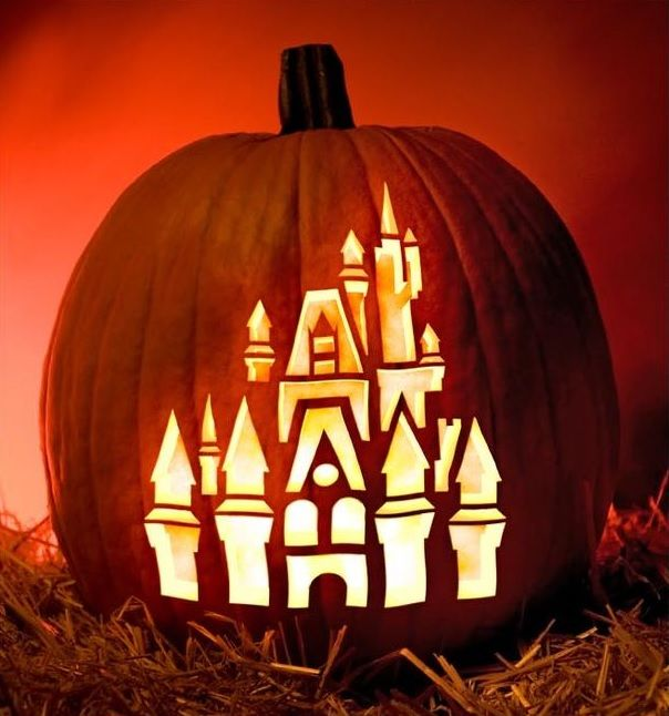 A DISNEY HALLOWEEN Free Disney Pumpkin Stencils Including Template To Create Cinderella Jack O Lantern