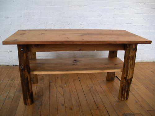 Coffee Table With Round Purlin Legs Gray Goes Green Made From