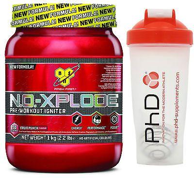 Bsn #no-xplode 30 new #formula pre-workout igniter 1kg + free