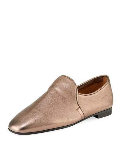 46bf2357b4711 X489E Aquatalia Revy Flat Metallic Leather Loafers | Fall Trends ...