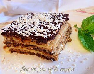 (*) TARTA DE GALLETAS, FLAN Y CHOCOLATE