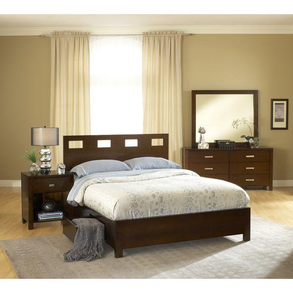 Rectangular Cutout 4-drawer Chocolate Brown Storage Bed | furniture ...