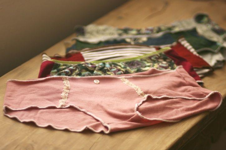 faites vos culottes à partir de vieux t-shirts dont vous avez marre