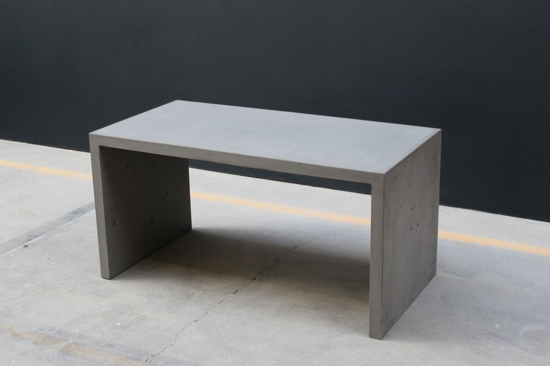 Unser Beton Couchtisch-Bank rustikales Möbel für Innen und Außen ...