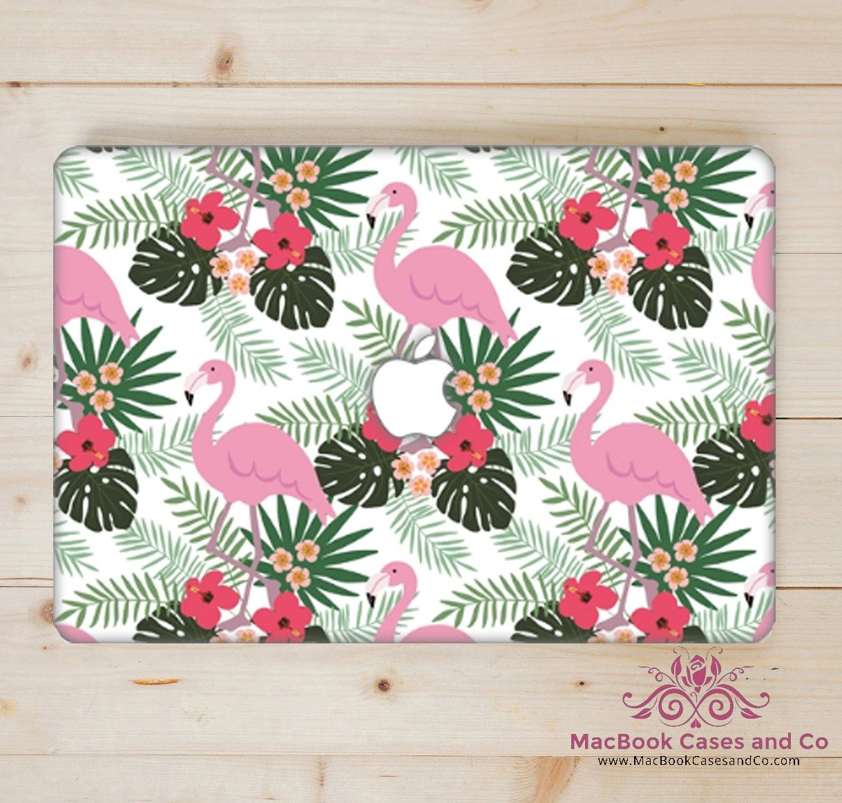Flamingo MacBook Case. MacBook Case. Top (printed) and Bottom (clear) Hard…