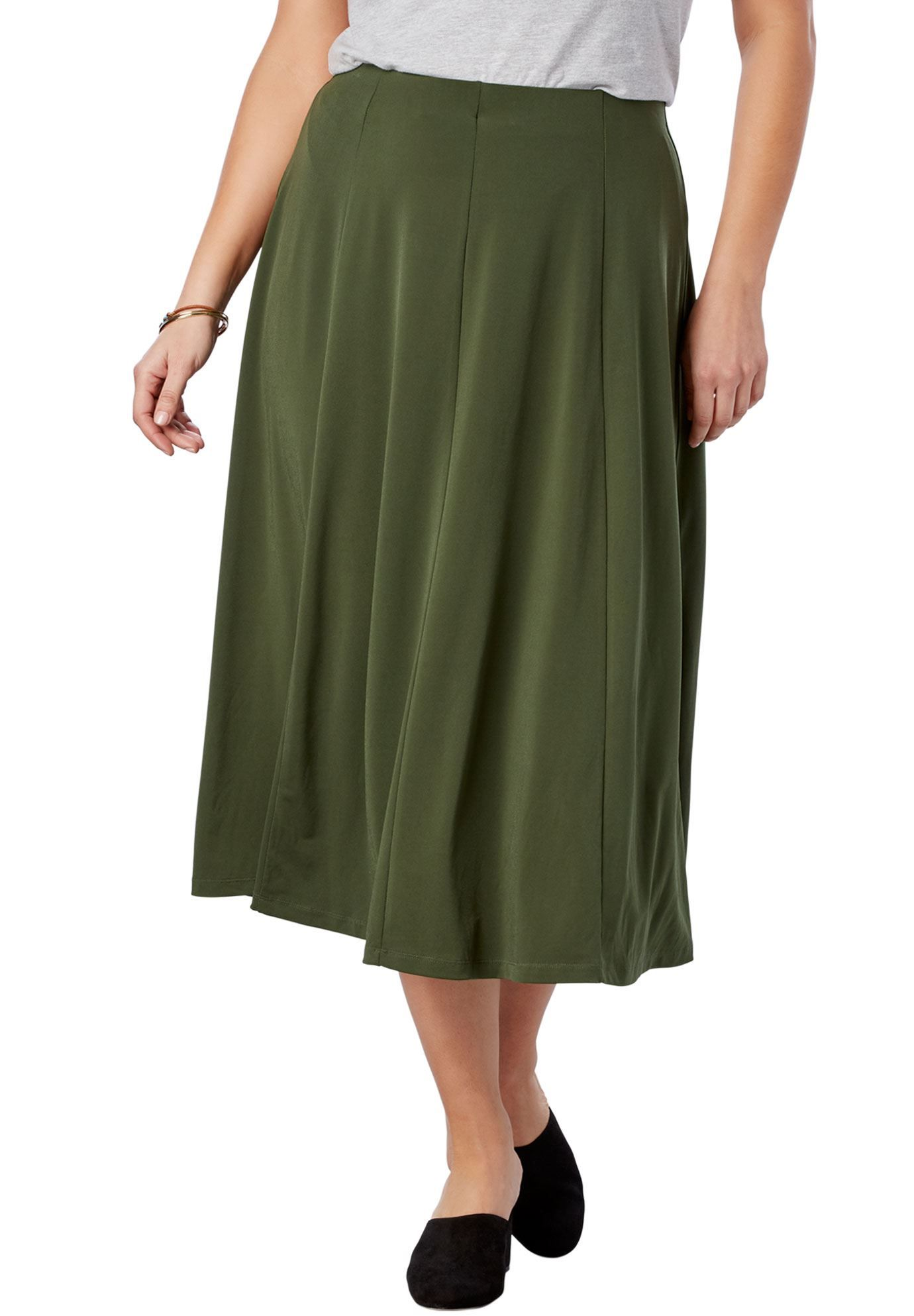 c2c8fac17 A-Line Knit Midi Skirt - Women's Plus Size Clothing | Products ...